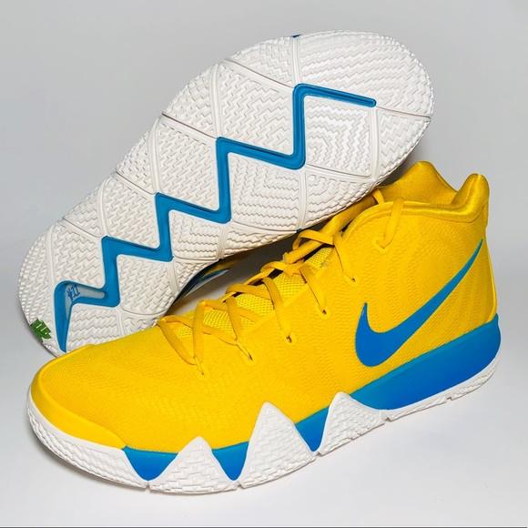 uk availability 7075e 13b6e NEW Nike Kyrie 4 KIX Yellow Basketball Shoes NWT